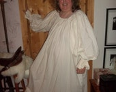 Plus size Medieval unbleached cotton muslin chemise to wear under a skirt and bodice.