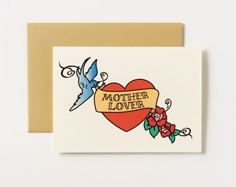 Mother Lover Tattoo Greeting Card