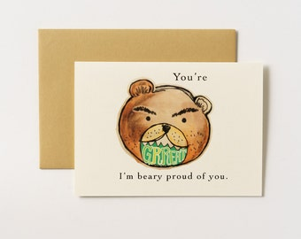 Beary Proud Bear Greeting Card