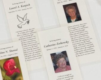 Memorial Cards - Digital File - Template