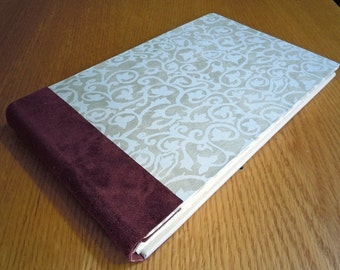 White Vines and Wine Suede Guest Book