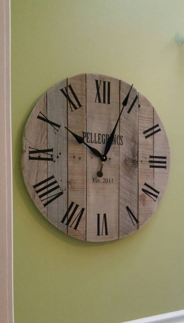 30 Rustic Wall Clock Pallet Clock Large Wall Clock By