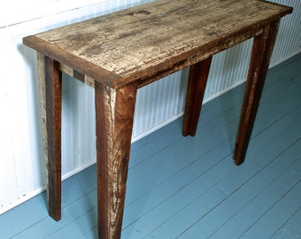 Reclaimed Wood Table Original Paint Distressed Look OOAK Handmade in Mississippi Farmhouse Furniture
