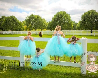 flower girl dress, flower girl dresses, blue flower girl dress, baby dress, child dress, birthday dress, aqua dress, blue dress
