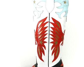 Inlay leather boots special designs from 265 to 398 us made to order