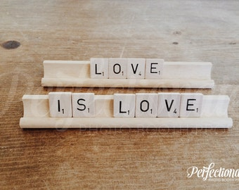 LOVE IS LOVE Sign | Love Scrabble Sign | Love Table Decor