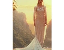 Pageant Galadriel White Dress Hobbits OOC  Halloween Costplay custom size 3/6m 9m 12m 18m 2T 3T 4 5 6 7 8 9 10 rs