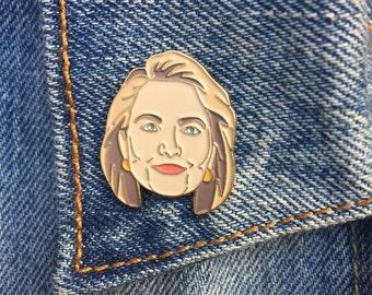 Hillary Enamel Pin, Hillary 2016, President, Soft Enamel Pin, Hillary Clinton, Jewelry, Art, Gift (PIN13)