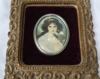 Vintage Ornate Victorian Lady Portrait Wall Decor