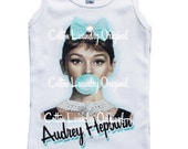 Audrey Hepburn tank tee shirt one piece body suit tshirt Vintage inspired childrens tshirt