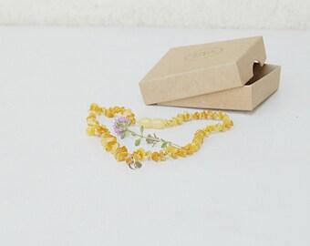 Teething necklace bone amber - Personalized Baltic amber baby necklace - baby teething necklace - natural teething amber