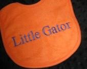 BIB Florida Gator for the Smallest FOOTBALL   fan!  Orange