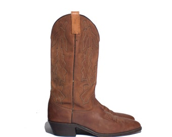 8 EW | Men's Dan Post Marlboro Brown Cowboy Boots