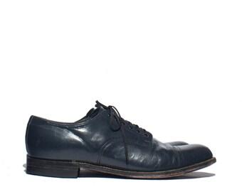 11 D | Stacy Adam's Cap Toe Brogue Oxfords Men's Navy Blue Dress Shoes