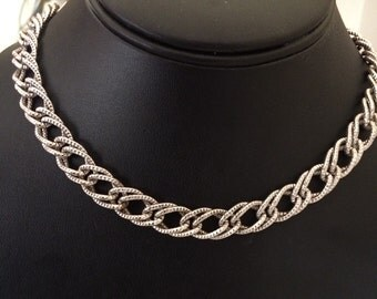 Vintage Emmons Small 15 inch Decorative Collar Chain Necklace
