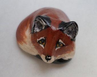 Miniature red fox, fox totem, animal totem, miniature animal, fox sculpture no.1