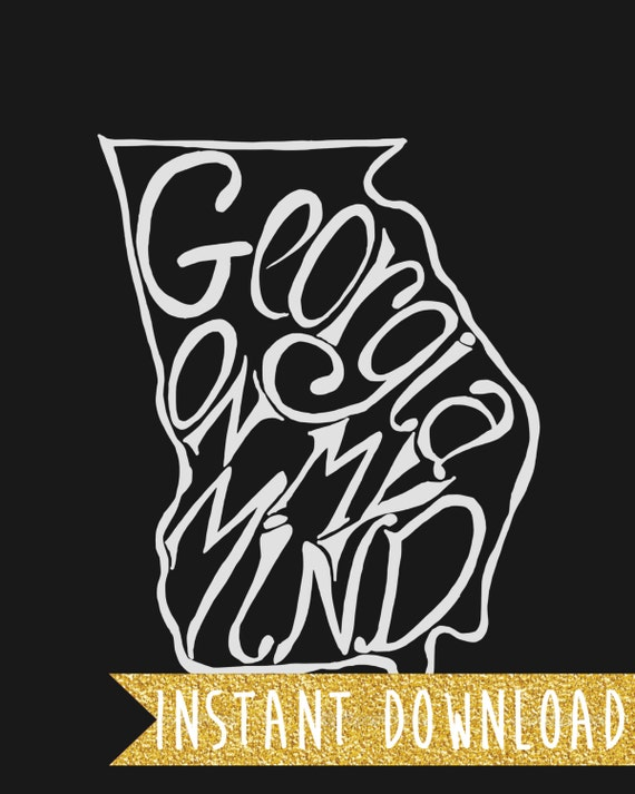 INSTANT DOWNLOAD - Georgia On My Mind - 8x10 Illustrated Print by Mandy England