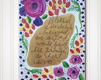 Art Print - Blessed is She - Luke 1:45