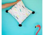 Pom Poms & Sprinkles Pillow Cover - 16x16