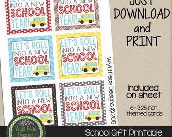 PRINTABLE Back to School, gift card, Printable PDF, jpeg, 8.5 x 11, Pinterest, Teacher Appreciation, school, teacher gift