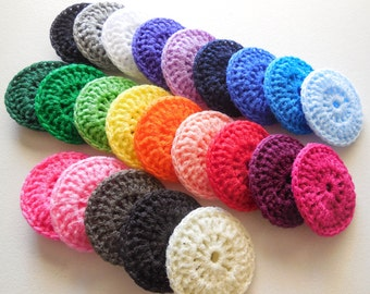 Nylon Pot Scrubbies - Set of 8 - Choose Any Color Combination - Crochet Dish Scrubber