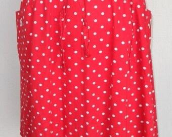 Vintage Wrap Skirt 1970's Polka Dot by Junior House