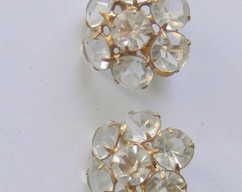 CLIP clear glass  earrings
