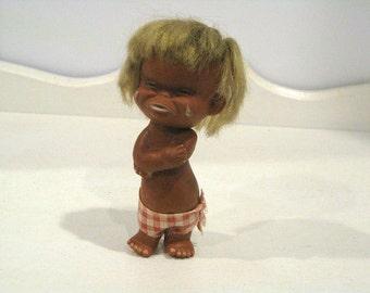 Vintage Baby Doll - Anekona Hawaii Crying Face - Hong Kong 1960's - Retro Doll