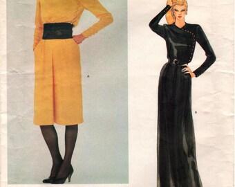 Vintage UNCUT Vogue Paris Original CHRISTIAN DIOR Pattern 2772 - Misses Dress and Sash - Size 14
