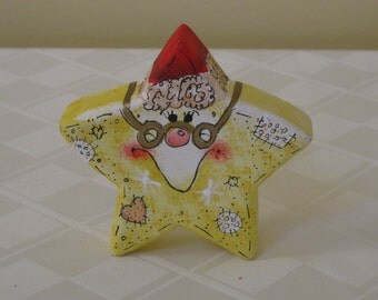 Grandpa Star Love Chunk Christmas Holiday Decoration