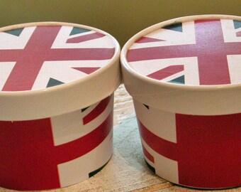 Union Jack Ice Cream Cup - Set of 12