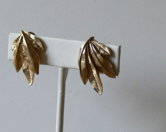 crown trifari clip earrings