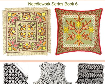 LACE MAKING Needlework and EMBROIDERY 50 Patterns including Cross Stitch with 62 Illustrations 101 pages Instant Download