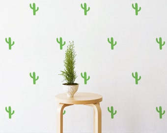 Mini Cactus | Removable Wall Decal & Sticker for Home, Office, Nursery | LSB0227VCC-S