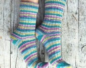Wool knitted socks, handmade warm socks