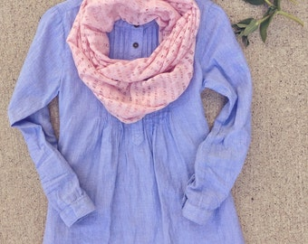 Toddler Infinity Scarf/Children / Little Girl's Infinity scarf, Baby, Dusty Rose Pink Jersey Knit Scarf/ Back to School
