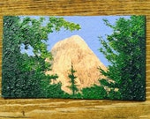 Mountain Landscape Oil Hand Painted Magnet ACEO