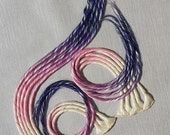 White Blonde Pink & Purple Blue Ombre Clip in Dread Hair Extension Hand Wefted up to 24 inches Long Made To Order