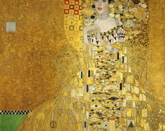 ART NOUVEAU Fine Art Print by Gustav Klimt of famous Woman in Gold of Adele Bloch-Bauer