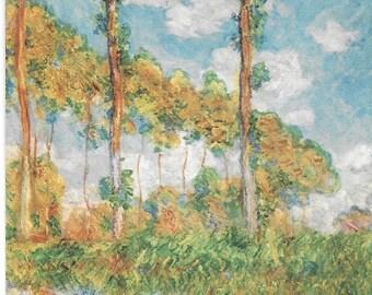 Vintage Unused Italian Postcard Monet Poplars in the Sun 679