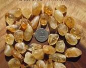 Citrine (medium) tumbled stone crystals - grade A
