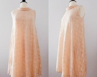 Vintage 1960s Mod Lace Swing Dress