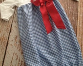 Dorothy Costume - The Wizard of Oz inspired - Newborn Layette, Infant Gown, Baby Gown
