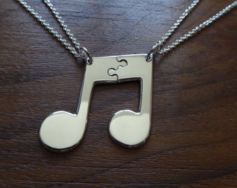 Best Friend Music Note Pendants Necklaces