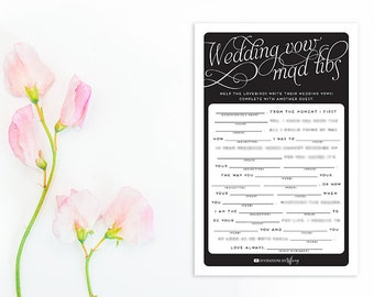 Gold Bridal Shower Games Wedding Vow Mad Libs Bridal