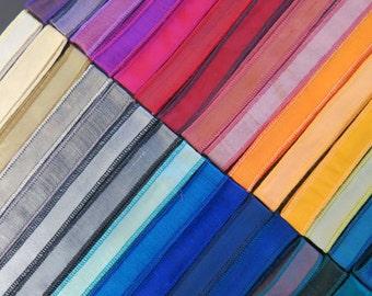 30 Bracelet Ribbons Rainbow Colors  W311