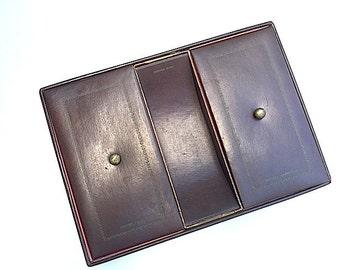 Leather Valet Tray for Dresser, Vintage Mens Dresser Caddy, Desktop Storage, Change Caddy, Mens Jewelry Storage, Leather Storage, For Him