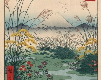 Japanese Art. Fine Art Reproduction. Hiroshige 'One Hundred Famous Views of Edo' - Otsuki in Kai Province, 1858