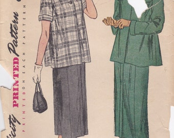 1940s Maternity Suit Pattern Simplicity 2689 Size 13 Bust 31