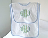 Applique Terry Bib - Burp Cloth - Your Choice